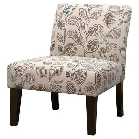slipper chair with wooden frame