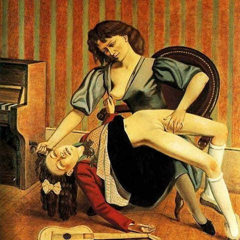 The Guitar Lesson – Balthus, 1934 controversial art