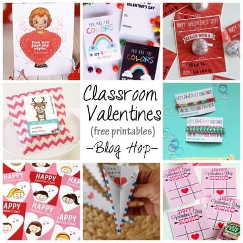 Free Printable School Valentine's Day Cards For Kids ~  A Fun Blog Hop!