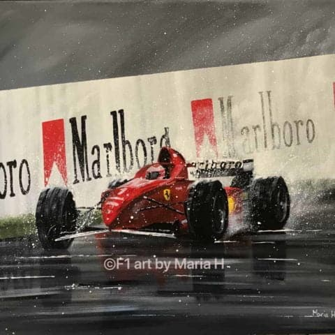 Acrylic painting Michael Schumacher