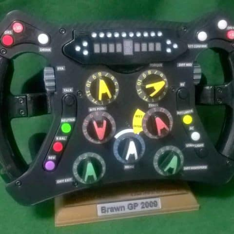 Brawn GP Replica Steering Wheel