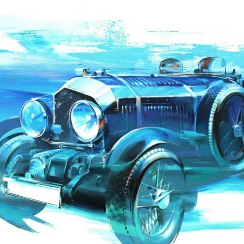 Bentley Blower, original car art