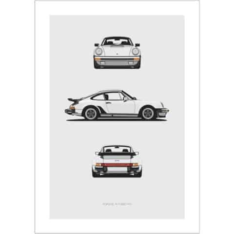 Porsche 911 Turbo Trilogy Print