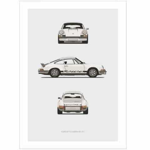Porsche 911 Carrera RS Trilogy Print