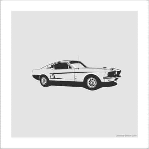 Shelby GT 500 Artprint