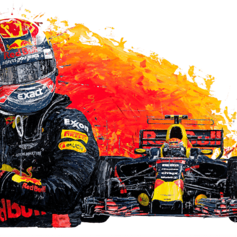 Max Verstappen 2017 Red Bull Racing RB13 - Giclee Print