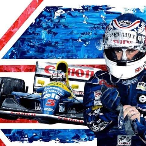 Nigel Mansell 1992 F1 World Champion - Giclee Print