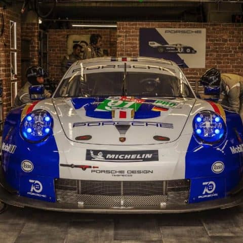"Porsche ""Rothmans"" Le Mans, in the garage"