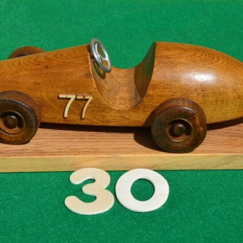 Handmade Ferrari Car on a plinth (Oak)