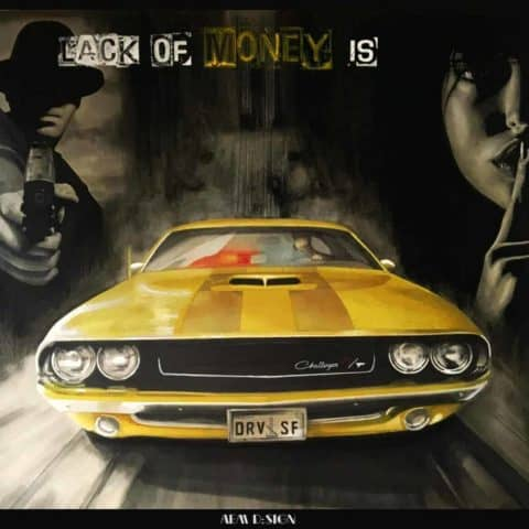 Dodge Challenger Muscle Car Original Car Drawing Painting Poster Illustration Automotive Art
