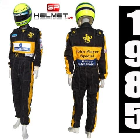 Ayrton Senna 1985 racing suit Replica Lotus F1