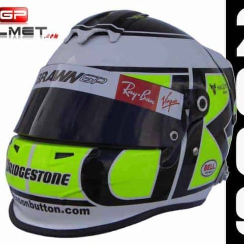"Jenson Button 2009 ""MONSTER"" Helmet Brawn F1"