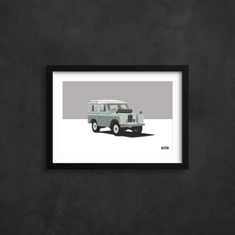 1968 Land Rover Series 2a - A3 Print