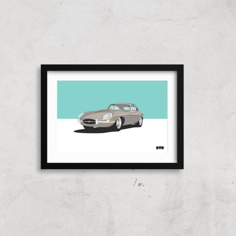 1962 Jaguar E-Type Series 1 - A3 Print