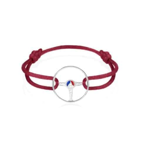 24H LE MANS BRACELET ON MAGMA RED CORD