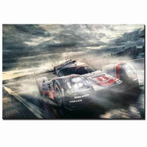 Porsche 919 Lemans Wall Art Canvas