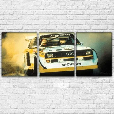 Audi Quattro Rally Modular Wall Art Canvas