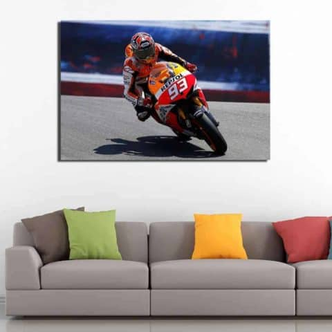 Marc Marquez Moto GP Wall Art Canvas