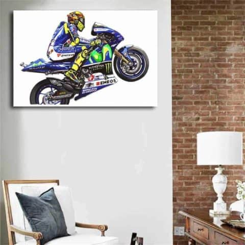 Valentino Rossi Drawing Wall Art Canvas