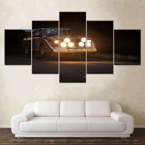 Audi Rallie WRC Modular Wall Art Canvas