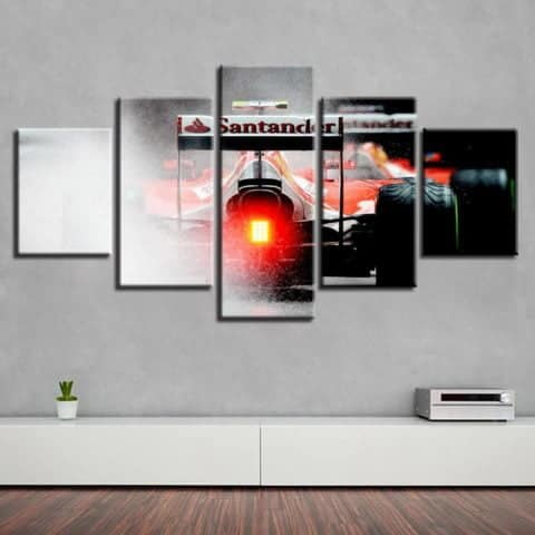 Ferrari F1 Modular Wall Art Canvas