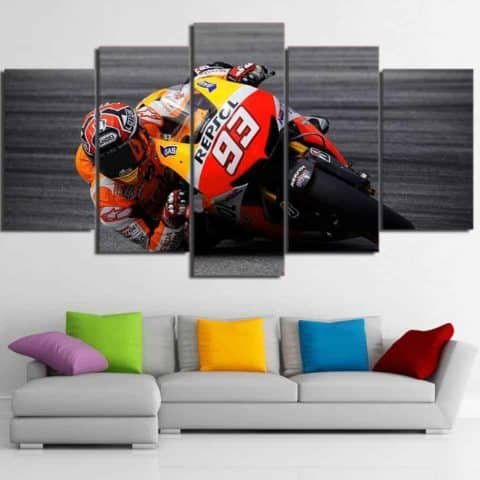 Marc Marquez Moto GP Modular Wall Art Canvas
