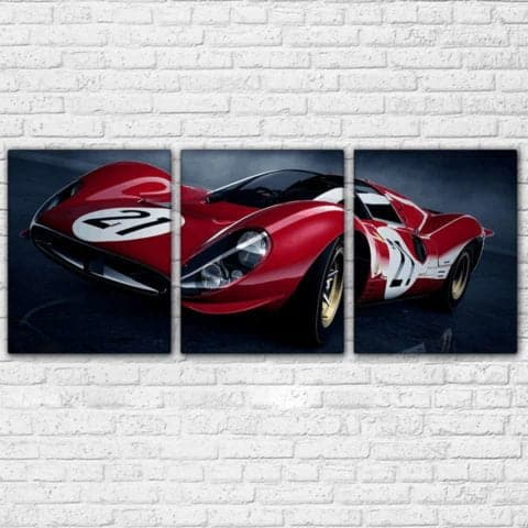 Ferrari Vintage 2 Modular Wall Art Canvas