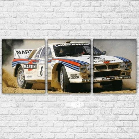 Lancia Martini Rally Modular Wall Art Canvas