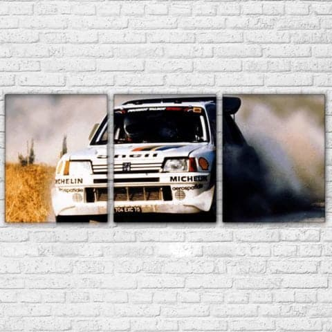 Peugeot Michelin Rally Modular Wall Art Canvas