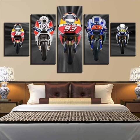 Moto GP Grid Modular Wall Art Canvas