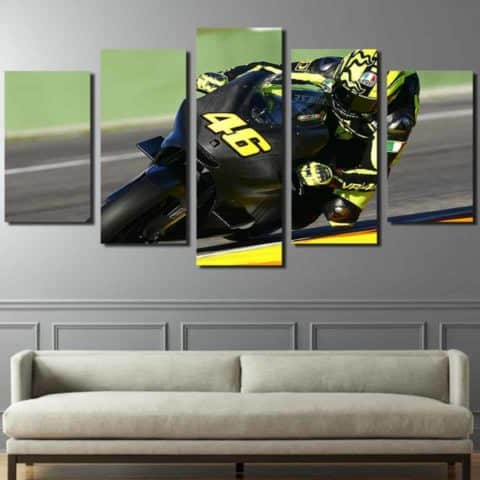 Valentino Rossi Carbon Modular Wall Art Canvas