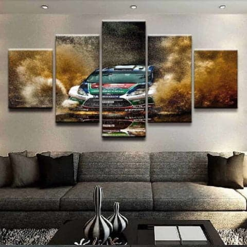 Ford Rallie WRC Modular Wall Art Canvas