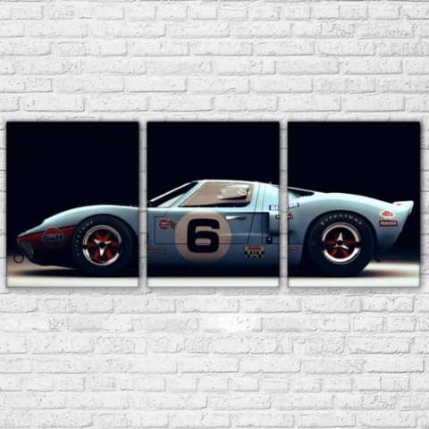 Ford GT Lemans Modular Wall Art Canvas