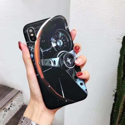 Speed Passion Mustang Steering Wheel Phone Case