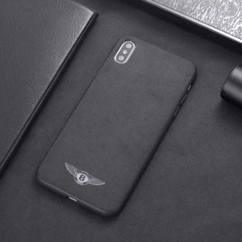 Premium Bentley Logo Leather iPhone Case