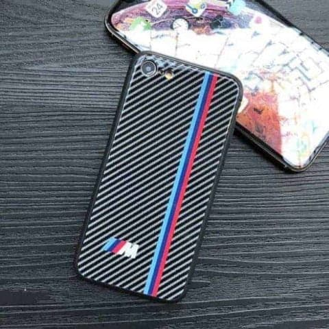 Carbon Fibre BMW M Logo iPhone Case