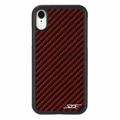 iPhone XR Red Carbon Fiber Phone Case | CLASSIC