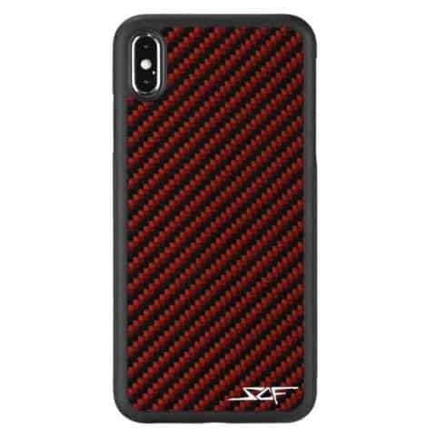 iPhone XS Max Red Carbon Fiber Phone Case | CLASSIC Series