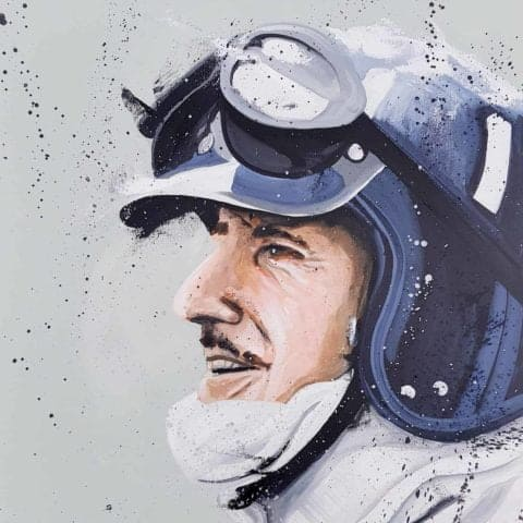 Graham Hill Artist Embellished Print By Sean Wales