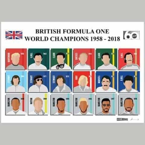 British Formula One World Champions 1958-2018 - 60 Years - Limited Edition