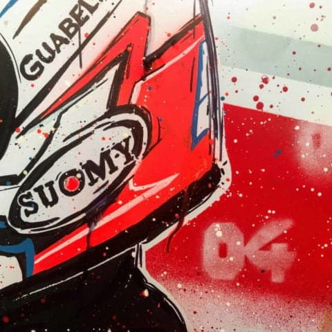 Andrea Dovizioso #2 - Graffiti painting - 1 of 1