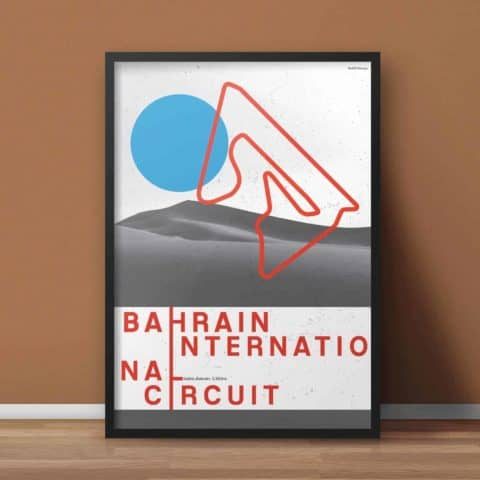 Bahrain International Circuit Formula 1 Gift, Formula 1 Art, Print, F1 Race Track Circuit Map Typography Poster