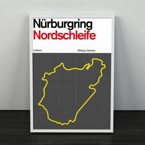Nürburgring Nordschleife Racing Circuit Formula 1 Gift, Formula 1 Art, Print, F1 Race Track Circuit Map Germany