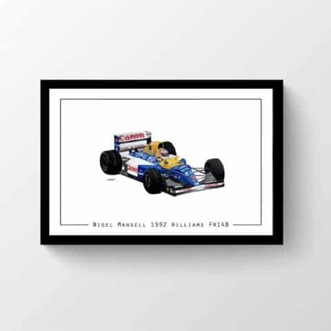 Nigel Mansell 1992 Williams FW14B Print