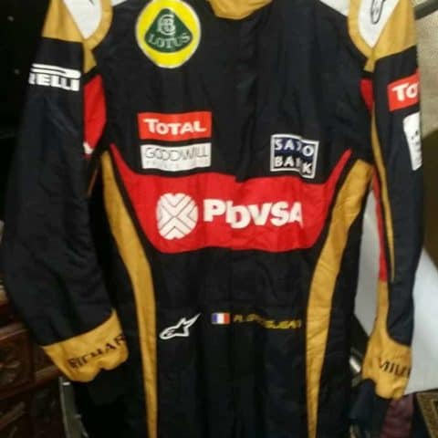 NOW SOLD-2015 Romain Grosjean used Lotus overalls