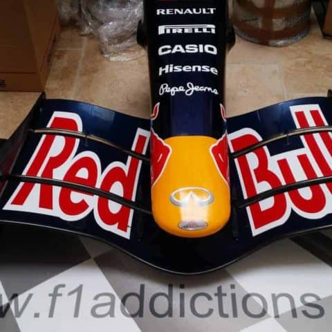 NOW SOLD(I HAVE AN RB4 NOSE AND FRONT WING)-Red Bull RB3 nosecone/full front wing