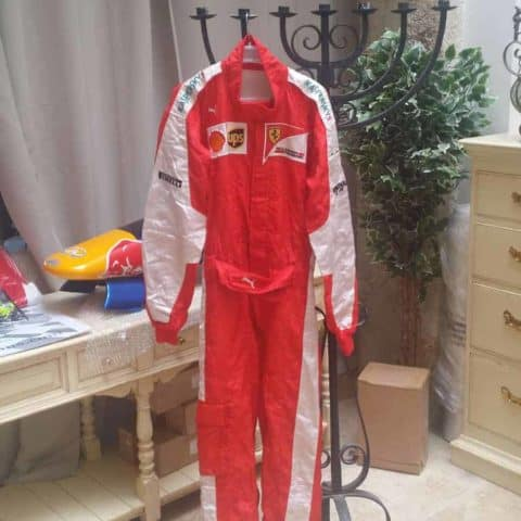 NOW SOLD-2015 used Ferrari pitcrew overalls. NOW REDUCED TO £850