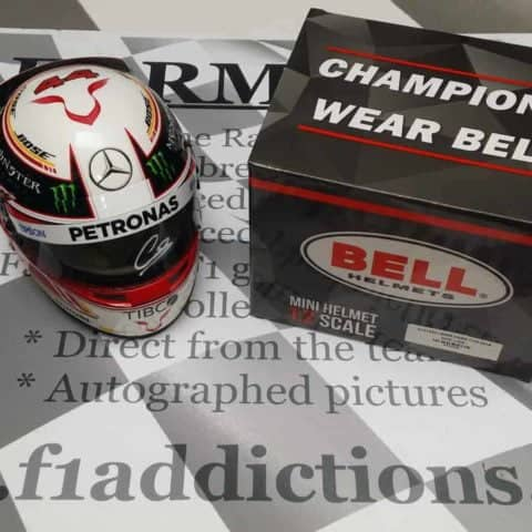 NOW SOLD'2018 Lewis Hamilton signed 1/ scale official helmet