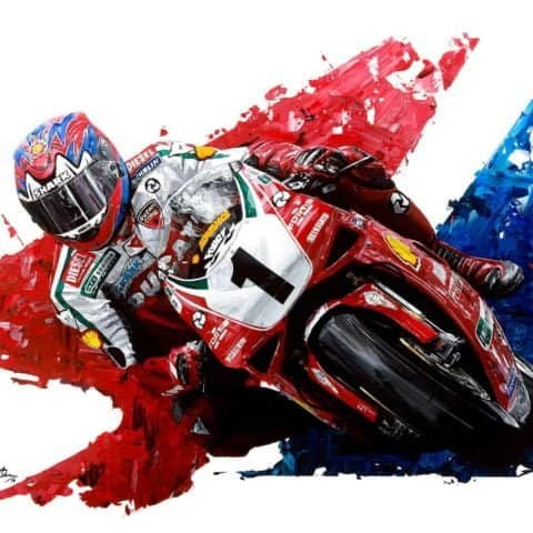 Carl Fogarty 4-Time World Superbike Champion - Hand Embellished
