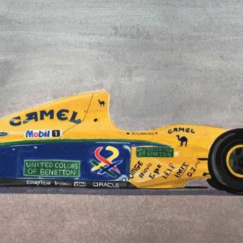 Original Benetton B191 (Michael Schumacher) Acrylic Painting